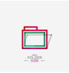Folder logo stamp Accounting binder vector