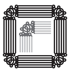 Frame ornament vector image vector image