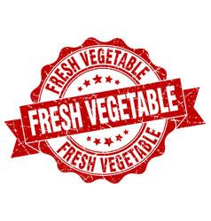 Fresh vegetable stamp sign seal vector