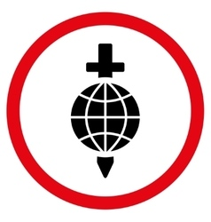 Global Safety Flat Rounded Icon vector image