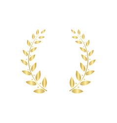 greek laurel or olive wreath for award vector image