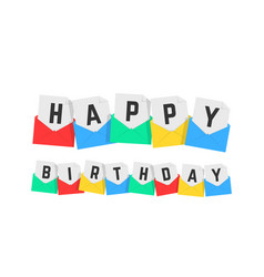happy birthday text color letters vector image