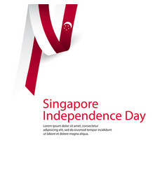 Happy singapore independence day celebration vector