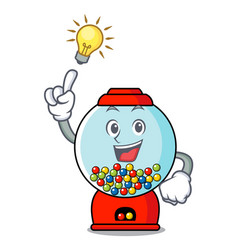 Have an idea gumball machine mascot cartoon vector