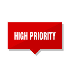 High priority red tag vector