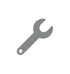 icon concept of grey spanner vector image