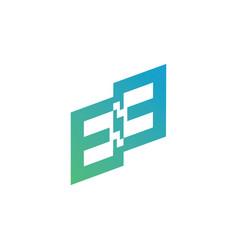 Initial e logo template vector