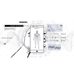 innovations systems body scan on phone vector image