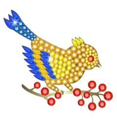 Jewelry birdie vector image