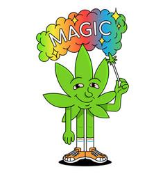 Leaf smoke cannabis marijuana vector