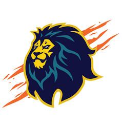 lion head logo mascot design claw scratch vector image