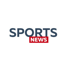 Mass media sports news logo for television studio vector
