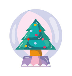 Merry christmas object to decoration design vector
