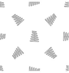 Metal spring coil pattern seamless vector