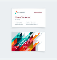 minimalistic business card design vector image
