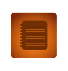 Orange emblem notebook paper icon vector