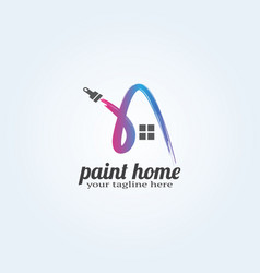 Paint home logo template logo for business vector