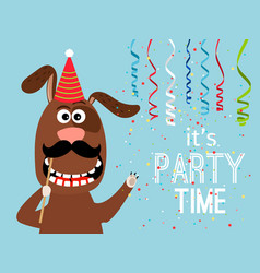 party dog card vector image