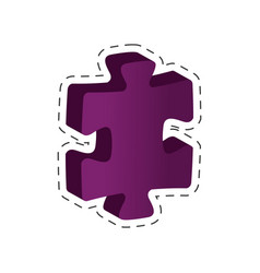 Piece puzzle solution image vector