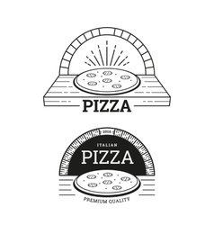 Pizza labels design vector