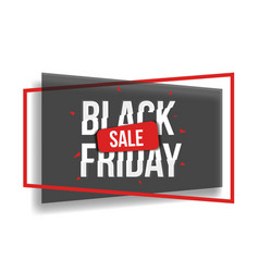 Realistic black friday poster vector