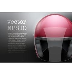 Red Motorcycle helmet vector