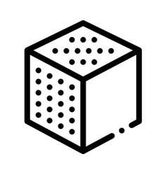 Refined cube icon outline vector
