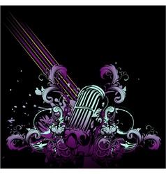retro concert poster vector image