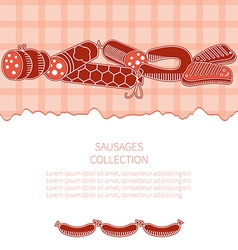 Sausages collection vector image
