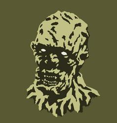 scary vampire head the horror vector image vector image