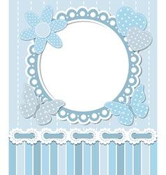 Scrapbook blue frame vector image