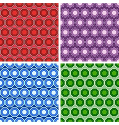 Seamless octagon pattern set vector