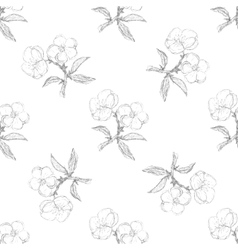 Seamless pattern with apple twig vector