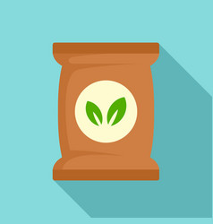 Seed plant pack icon flat style vector