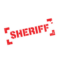 sheriff rubber stamp vector image