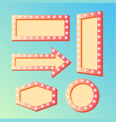 shining retro light banners set - frames with vector image
