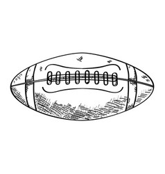 Sketch of a football ball vector