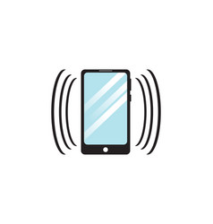 smartphone ringing vector image