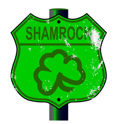 Spoof shamrock route 66 sign vector