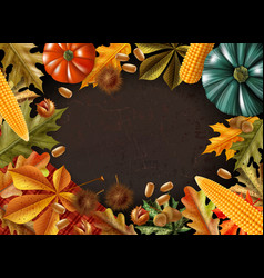 thanksgiving day colored composition vector image