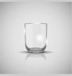 transparent glass for water on light vector image