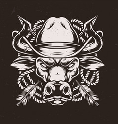 wild west authentic concept vector image