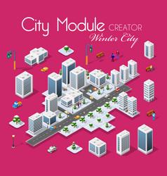 winter christmas city vector image