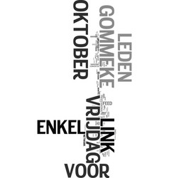 Wwwgommekeeu text word cloud concept vector
