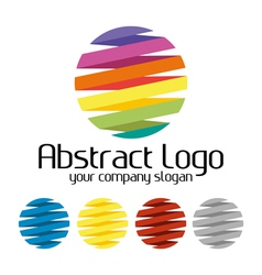 Abstract creative colorful logo vector image vector image