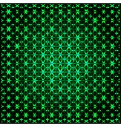 Abstract glowing green 3D fractal vector image