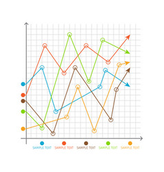 infographic chart changing graphs system of axes vector image