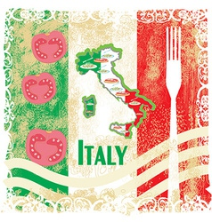 Italy travel grunge card with national italian vector image vector image