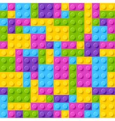 Plastic construction blocks vector image vector image