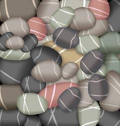 sea pebbles texture vector image